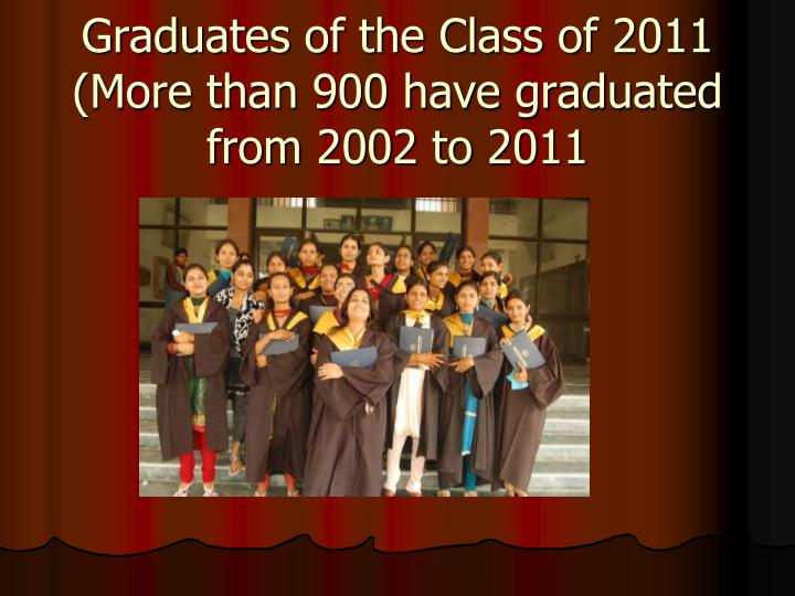 Graduates of the Class of 2011