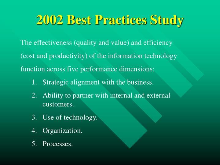 2002 Best Practices Study