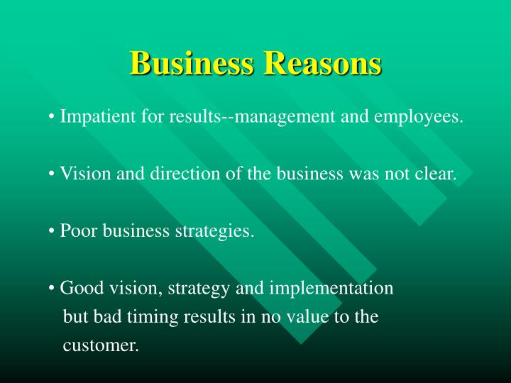 Business Reasons