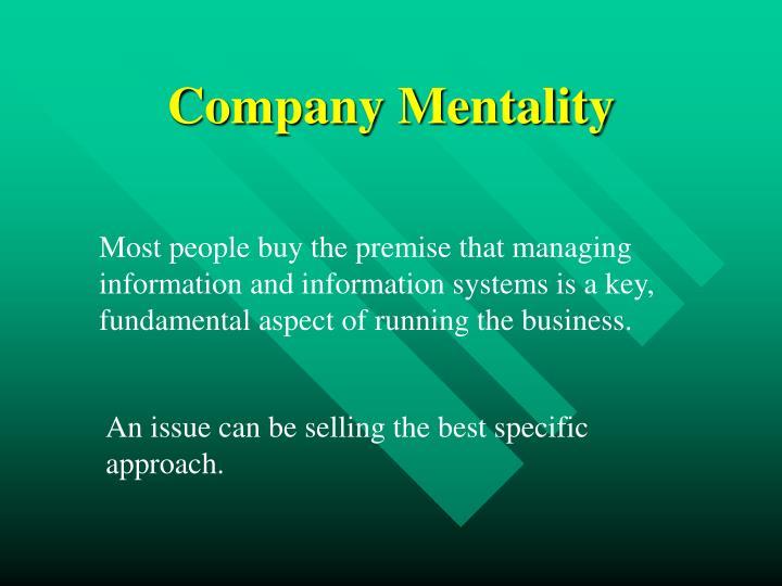 Company Mentality