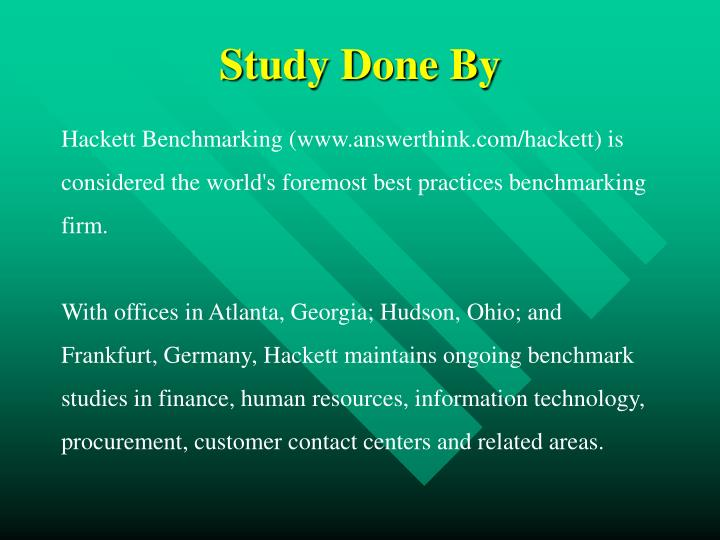 Study Done By
