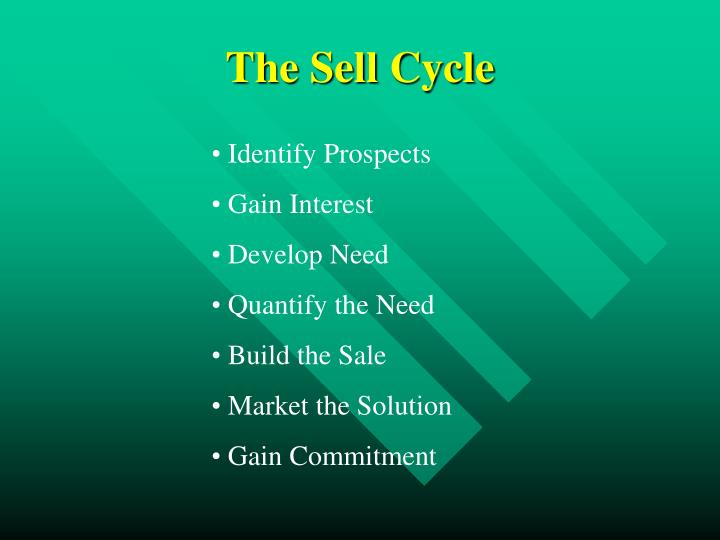 The Sell Cycle