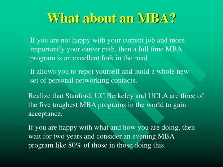 What about an MBA?