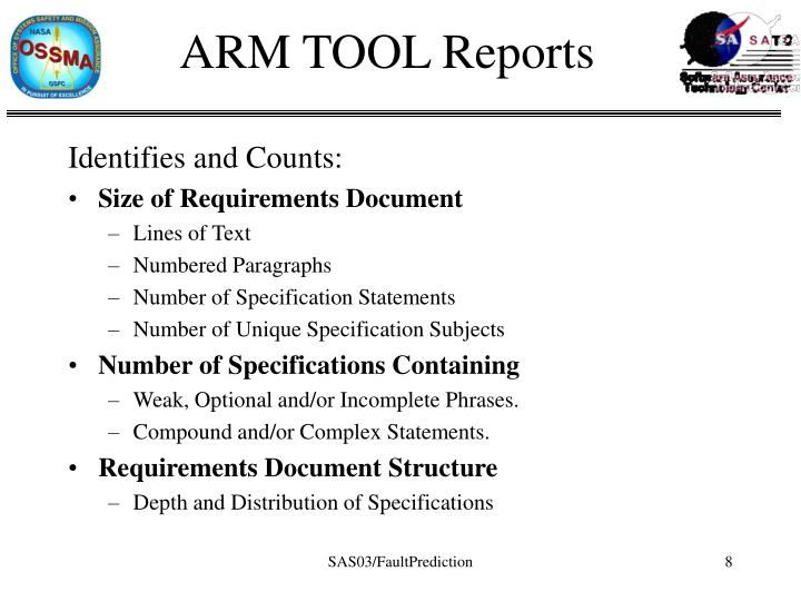 ARM TOOL Reports