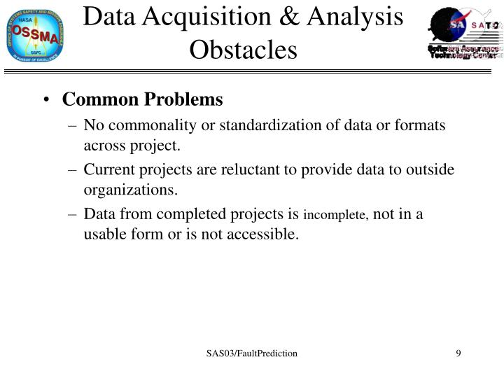 Data Acquisition & Analysis Obstacles