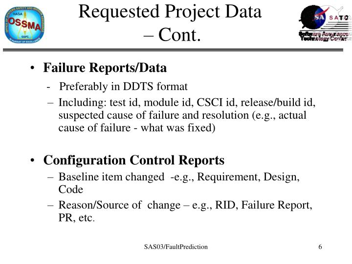 Requested Project Data