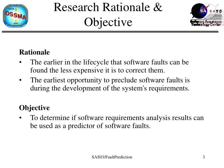 Research rationale objective