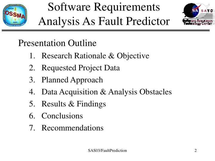 Software requirements analysis as fault predictor