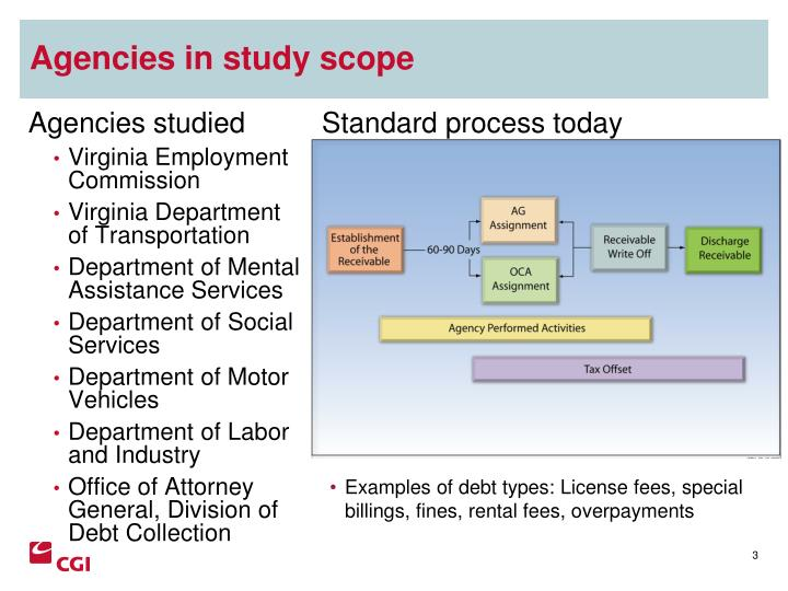 Agencies in study scope