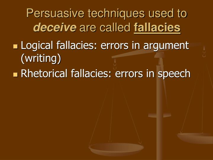 Persuasive techniques used to