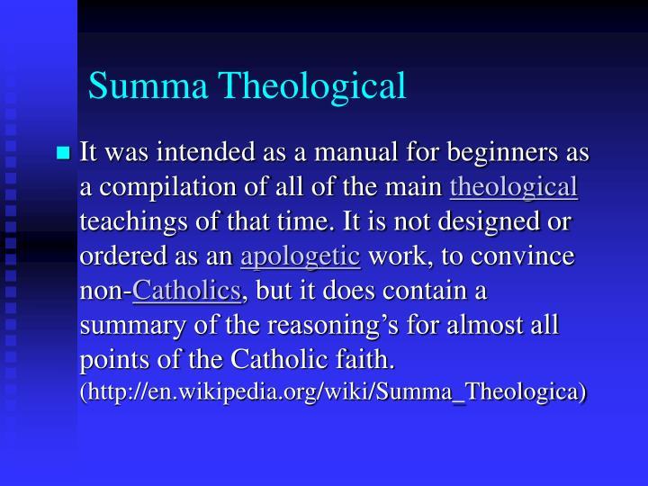 Summa Theological