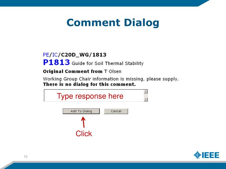 Comment Dialog