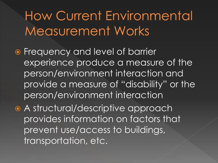 How Current Environmental Measurement Works