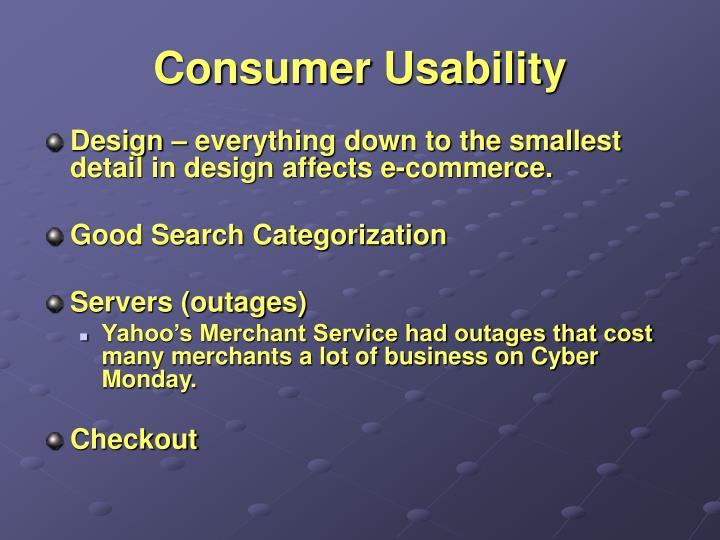 Consumer Usability