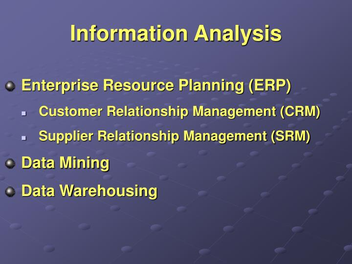 Information Analysis