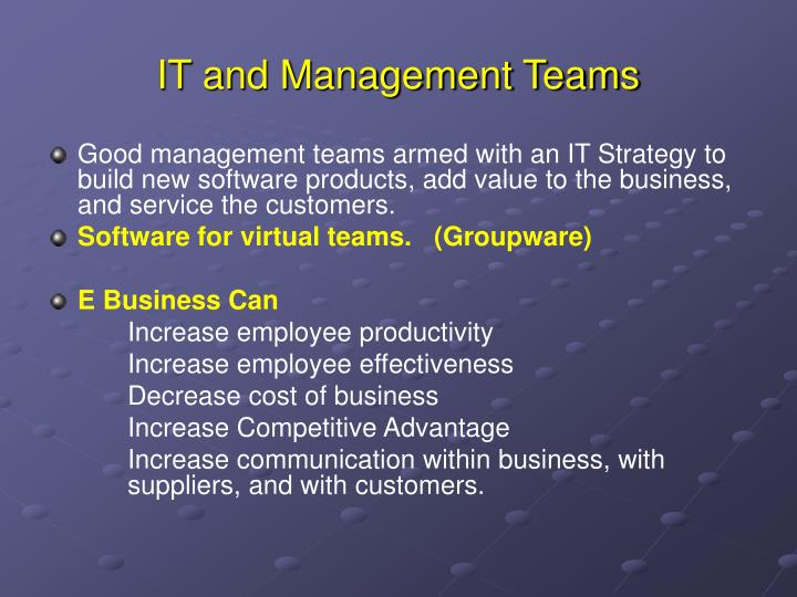 IT and Management Teams