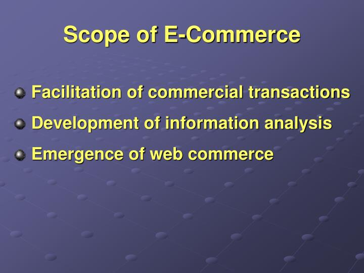 Scope of e commerce