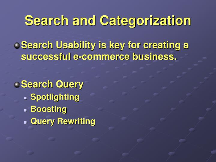 Search and Categorization