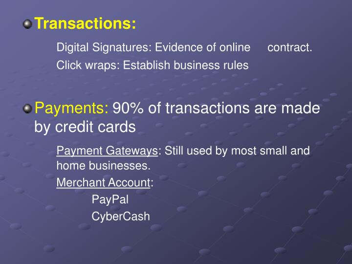 Transactions: