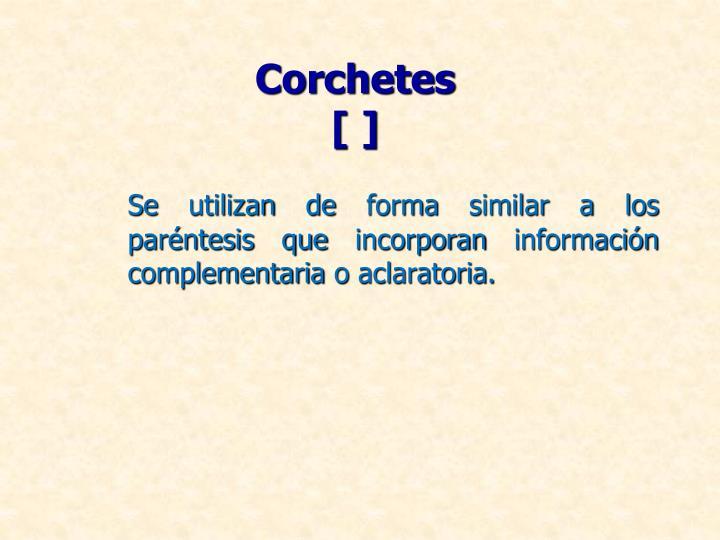 Corchetes