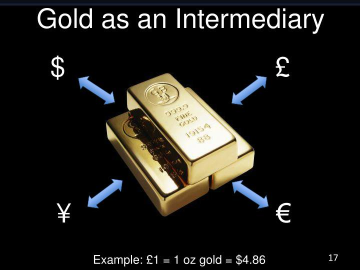Gold as an Intermediary