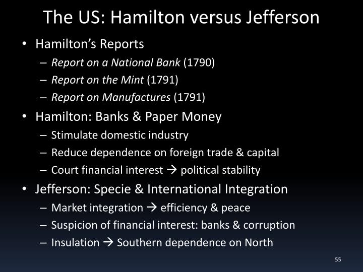 The US: Hamilton versus Jefferson
