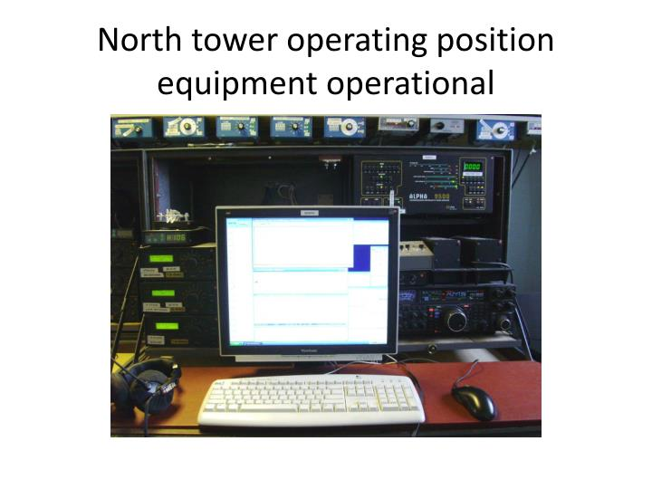 North tower operating position