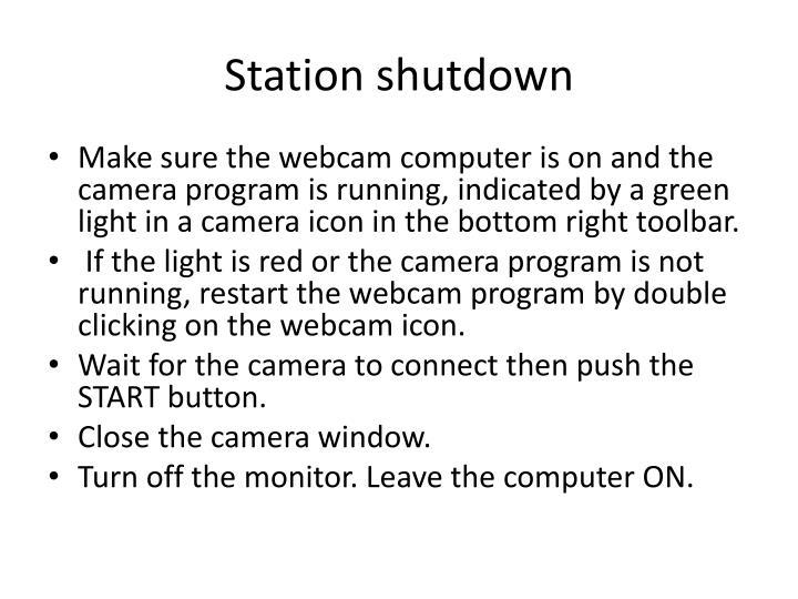 Station shutdown