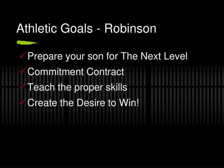 Athletic goals robinson