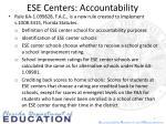 ese centers accountability