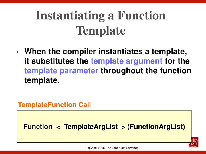 Instantiating a Function Template