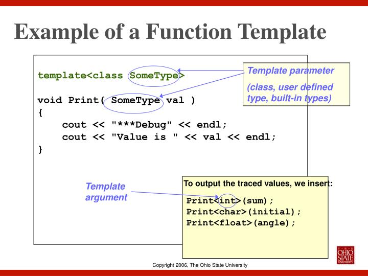 Example of a Function Template