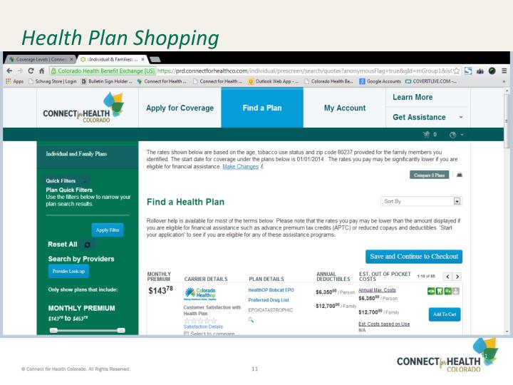 Health Plan Shopping