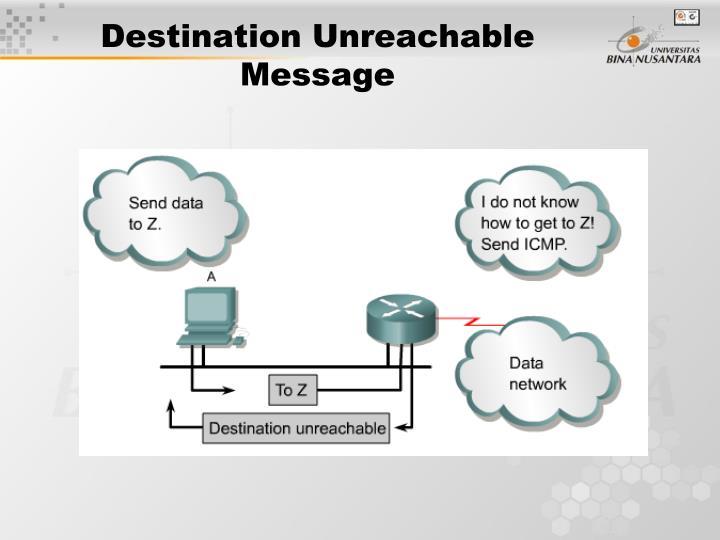 Destination Unreachable Message