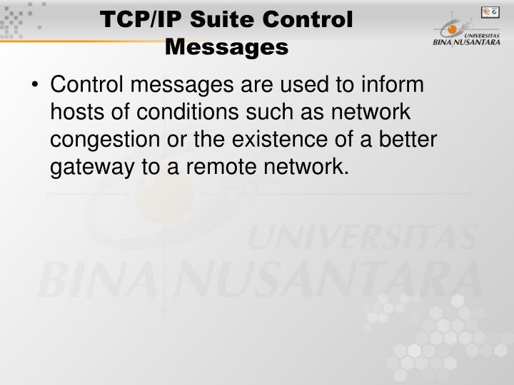 TCP/IP Suite Control Messages