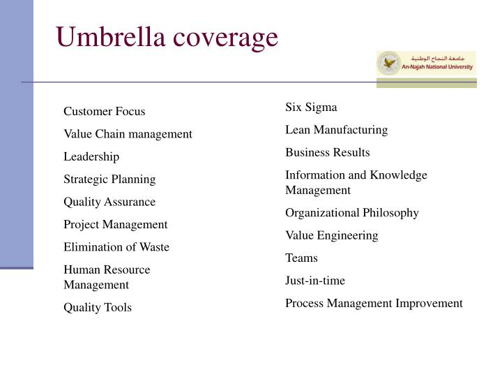 Umbrella coverage