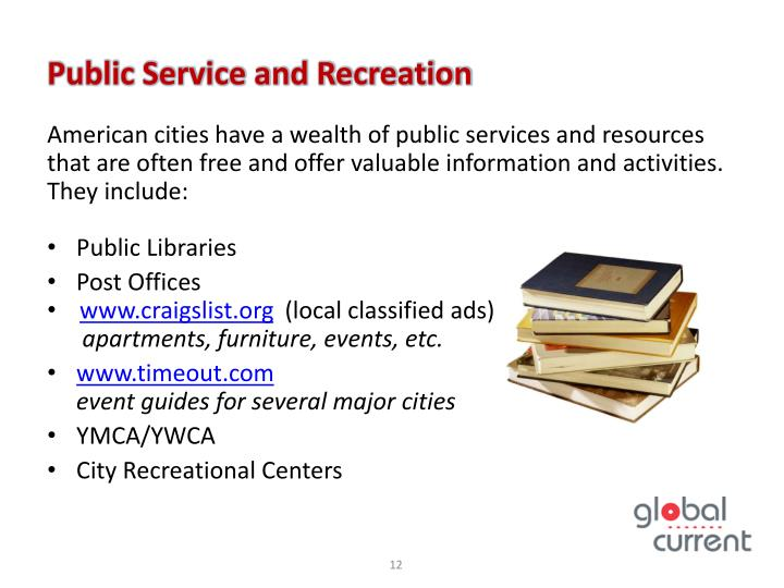 Public Service and Recreation
