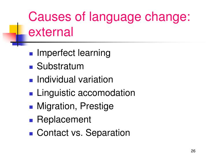 Causes of language change: external