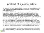 abstract of a journal article