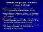 relazione immigrazione criminalit la scuola di chicago