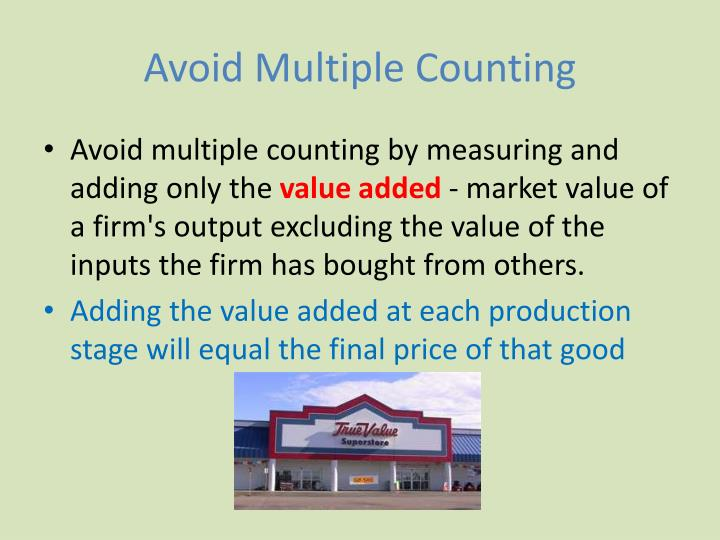 Avoid Multiple Counting