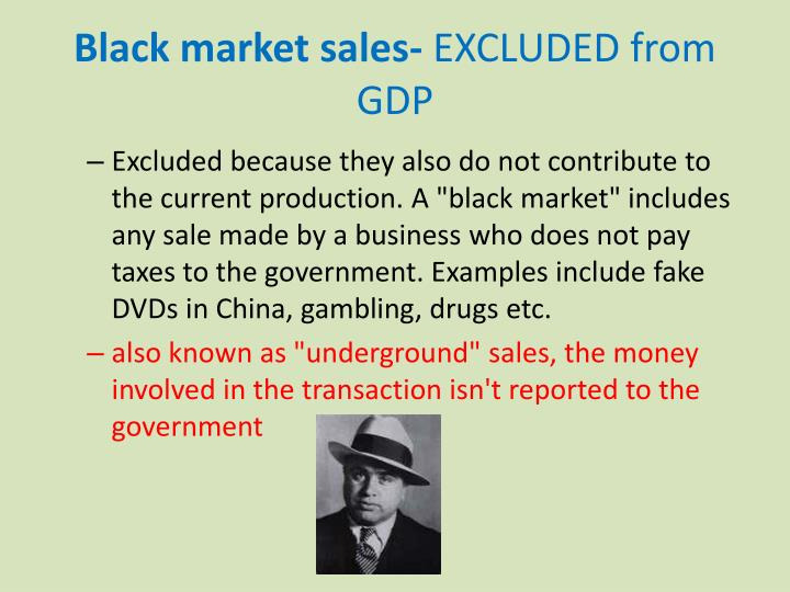 Black market sales-