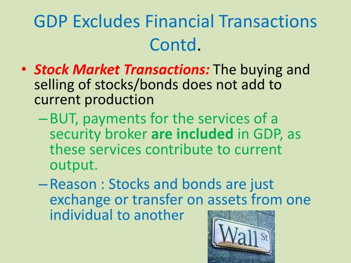 GDP Excludes Financial Transactions Contd