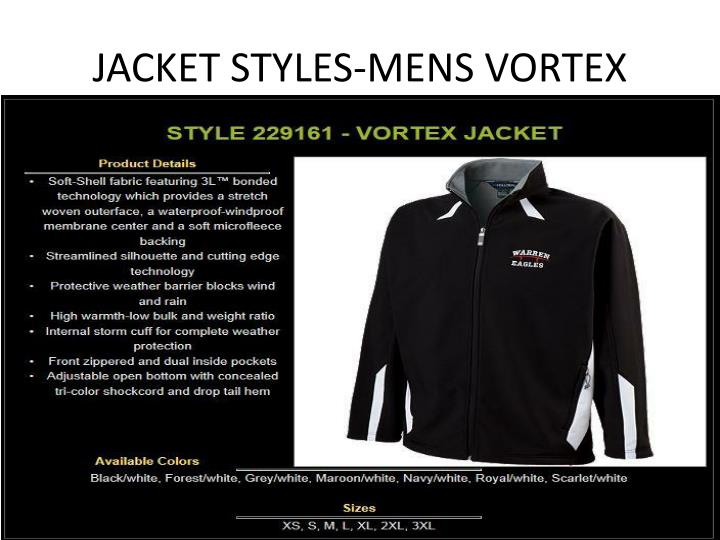 JACKET STYLES-MENS VORTEX