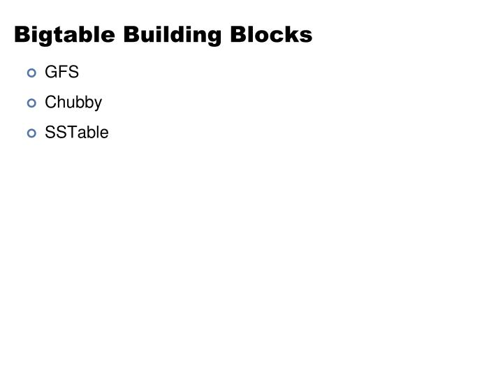 Bigtable Building Blocks
