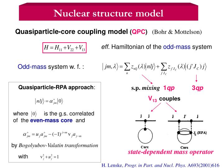 Nuclear structure model