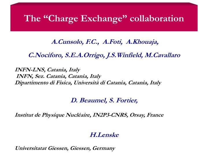 "The ""Charge Exchange"""