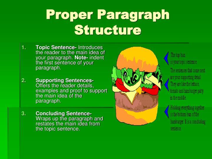 Proper Paragraph Structure