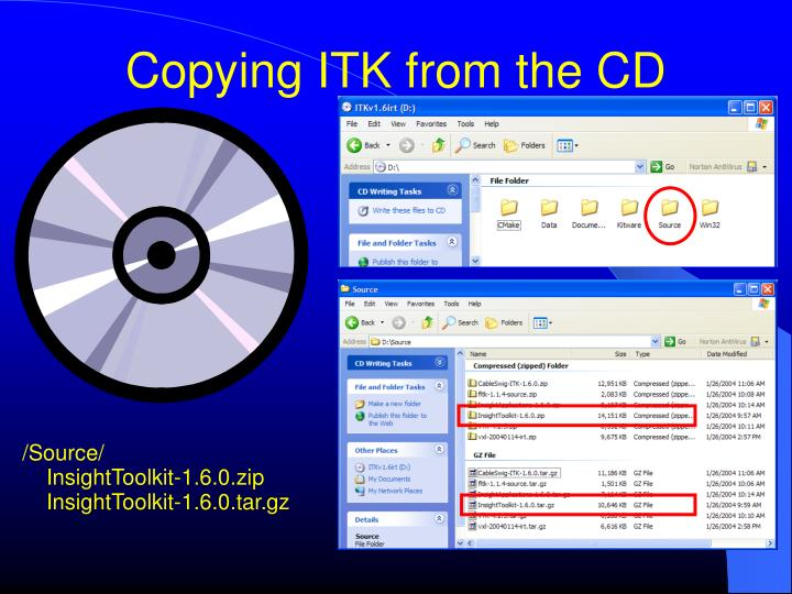 Copying ITK from the CD