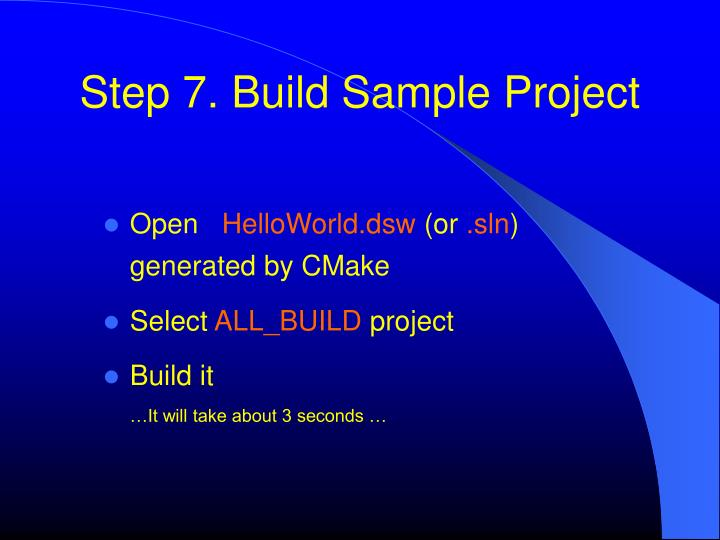 Step 7. Build Sample Project